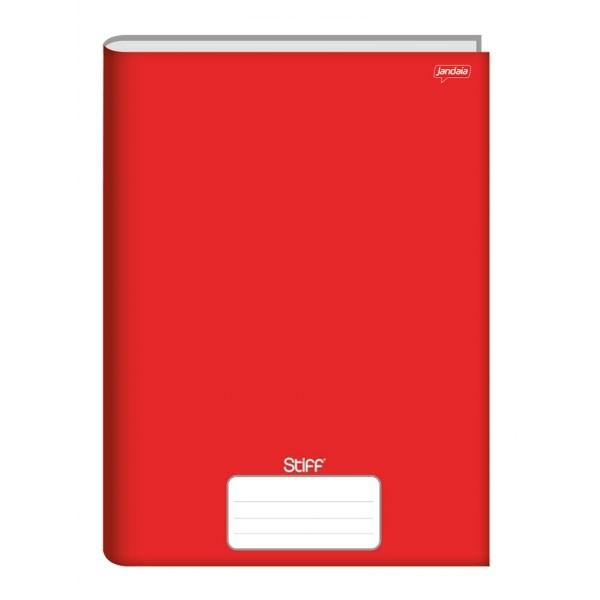 Caderno Brochura 1/4 Capa Dura 48 Folhas Vermelho Stiff Jandaia
