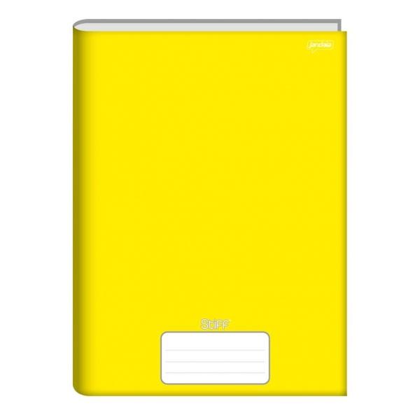 Caderno Brochura 1/4 Capa Dura 96 Folhas Amarelo Stiff Jandaia