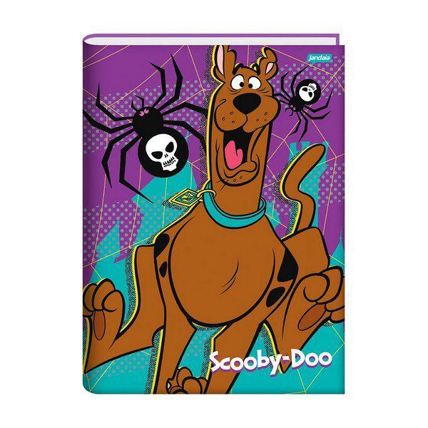 Caderno Brochura 1/4 Capa Dura 96 folhas Jandaia Scooby-Doo 1  - INK House