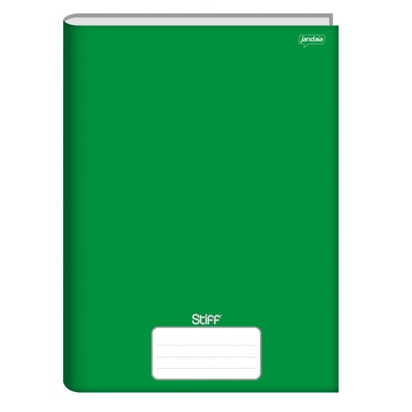 Caderno Brochura 1/4 Capa Dura 96 Folhas Verde Stiff Jandaia