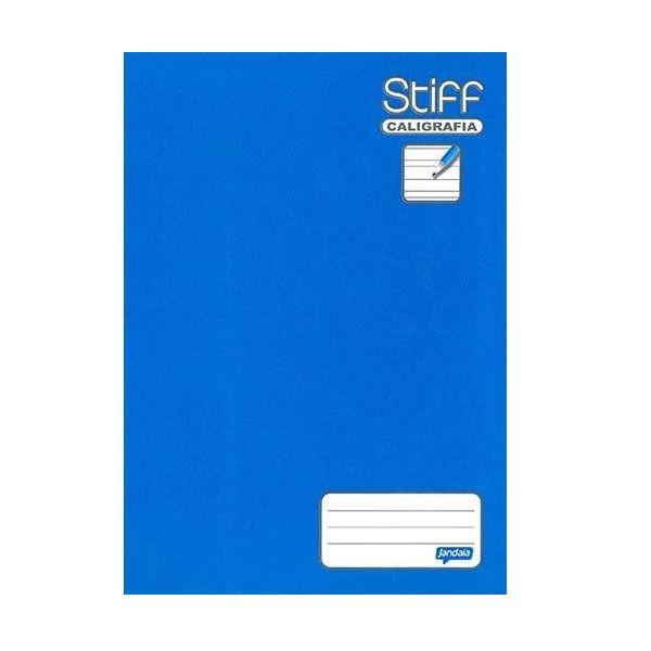 Caderno Brochura 1/4 Capa Dura Caligrafia 96 Folhas Stiff Jandaia