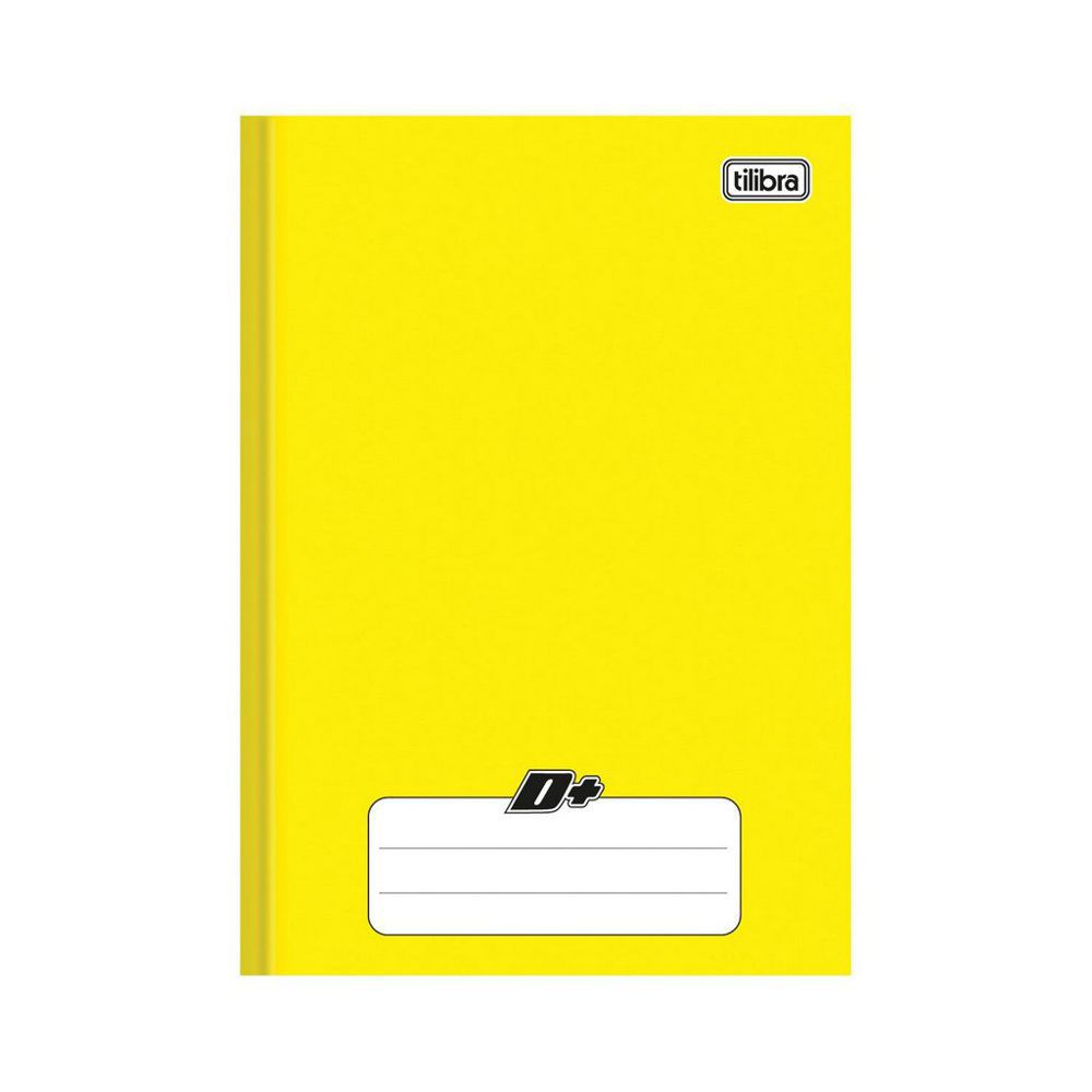 Caderno Brochura 1/4 Capa Dura D+ 48 Folhas Tilibra Amarelo