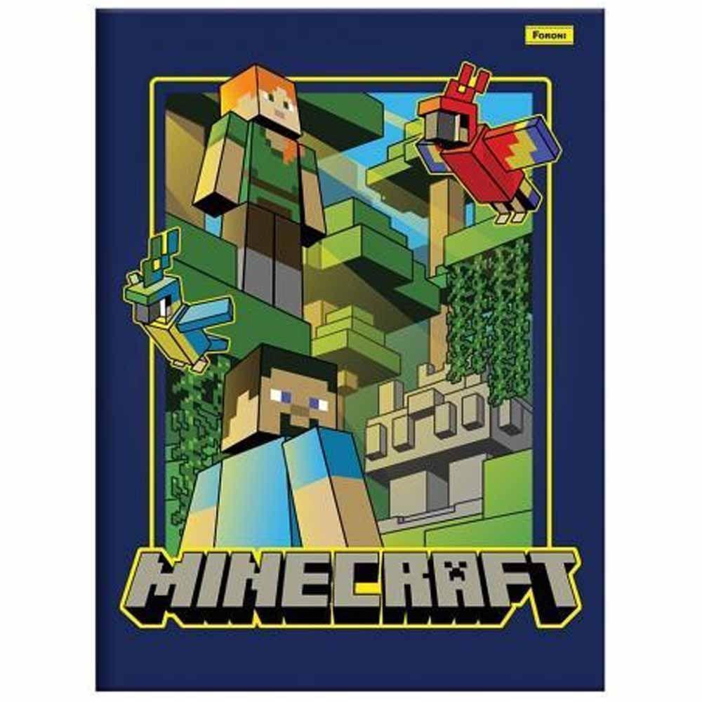 Caderno Brochura 1/4 CD 96 Folhas Minecraft 4 Foroni  - INK House