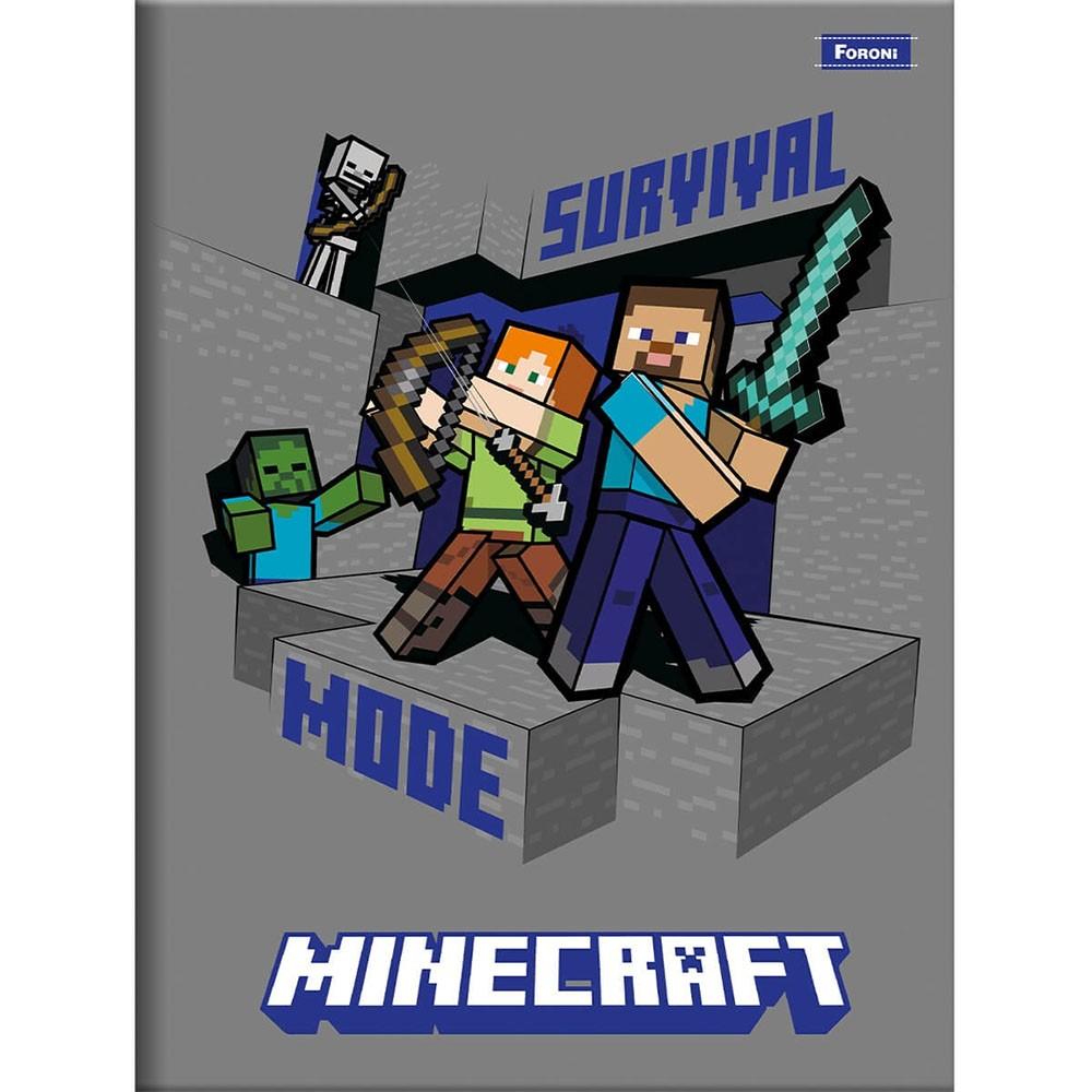 Caderno Brochura 1/4 CD 96 Folhas Minecraft 6 Foroni