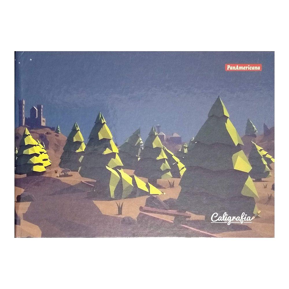 Caderno Brochura 1/4 CD Caligrafia 48 Folhas Panamericana 2  - INK House