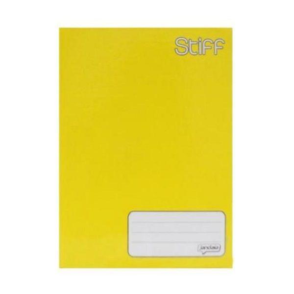 Caderno Brochurão Capa Dura 96 Folhas Amarelo Stiff Jandaia  - INK House
