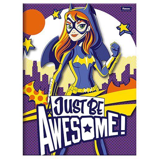 Caderno Brochurão Capa Dura 96 Folhas Foroni DC Super Hero Girls 2  - INK House