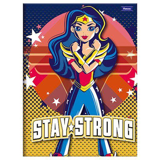 Caderno Brochurão Capa Dura 96 Folhas Foroni DC Super Hero Girls 3  - INK House