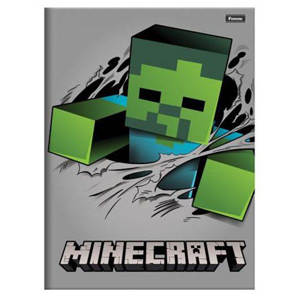 Caderno Brochurão Capa Dura 96 Folhas Foroni Minecraft 6  - INK House