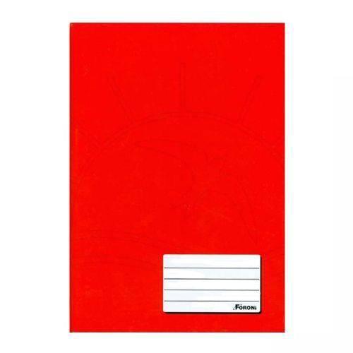 Caderno Brochurão Capa Dura 96 Folhas Foroni Vermelho  - INK House