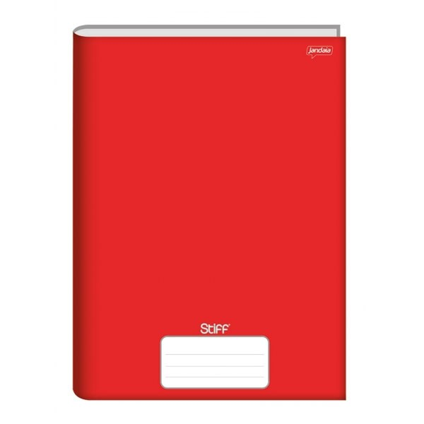Caderno Brochurão Capa Dura 96 Folhas Vermelho Stiff Jandaia