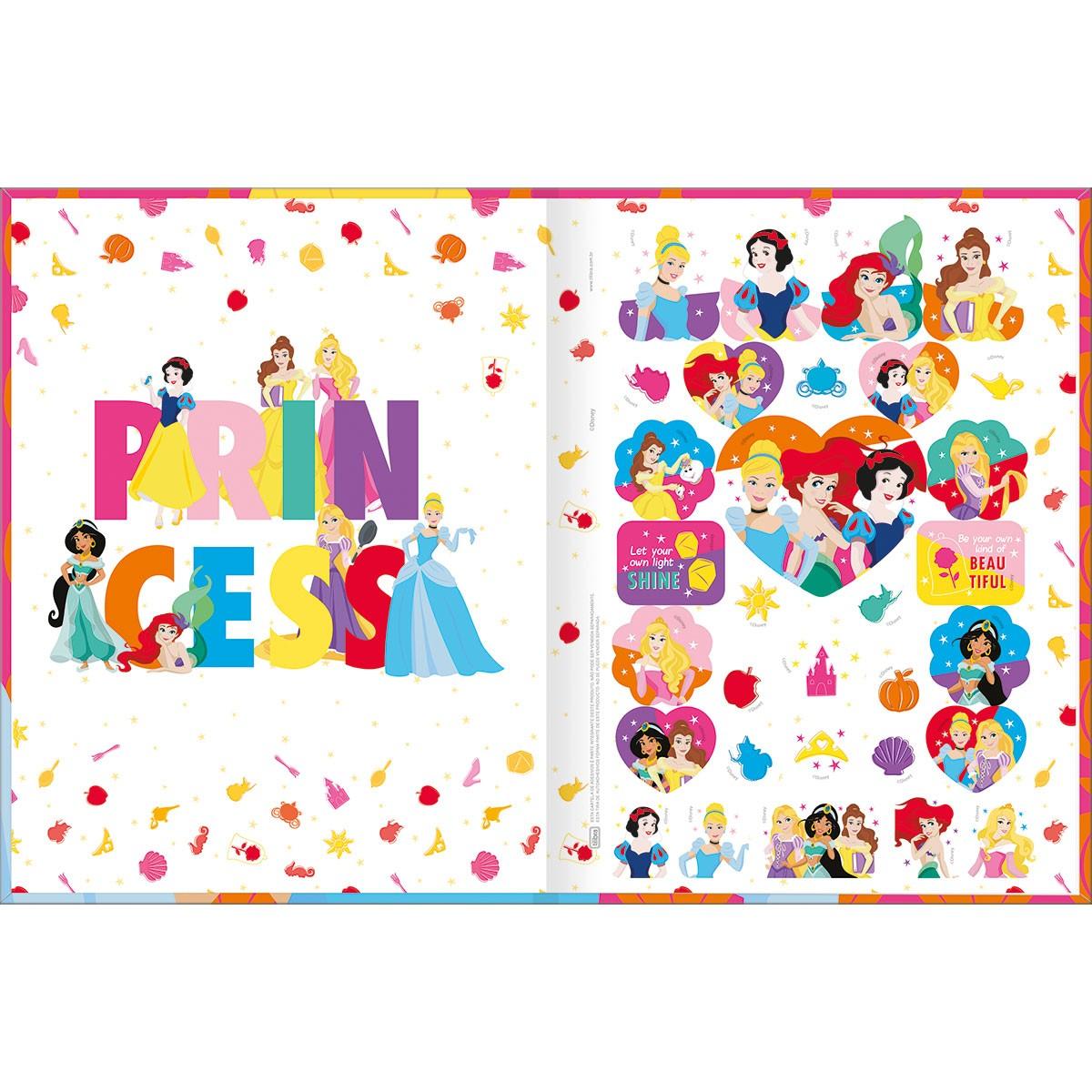 Caderno Brochurão CD 80 Folhas Disney Princesa 4 Tilibra
