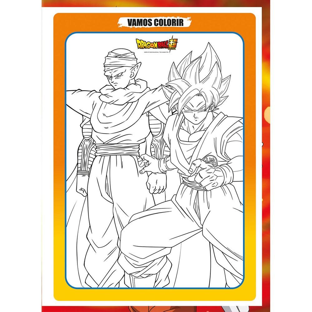 Caderno Brochurão CD 80 Folhas Dragon Ball 1 São Domingos