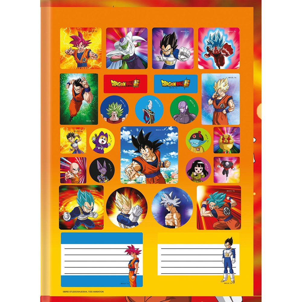 Caderno Brochurão CD 80 Folhas Dragon Ball 2 São Domingos