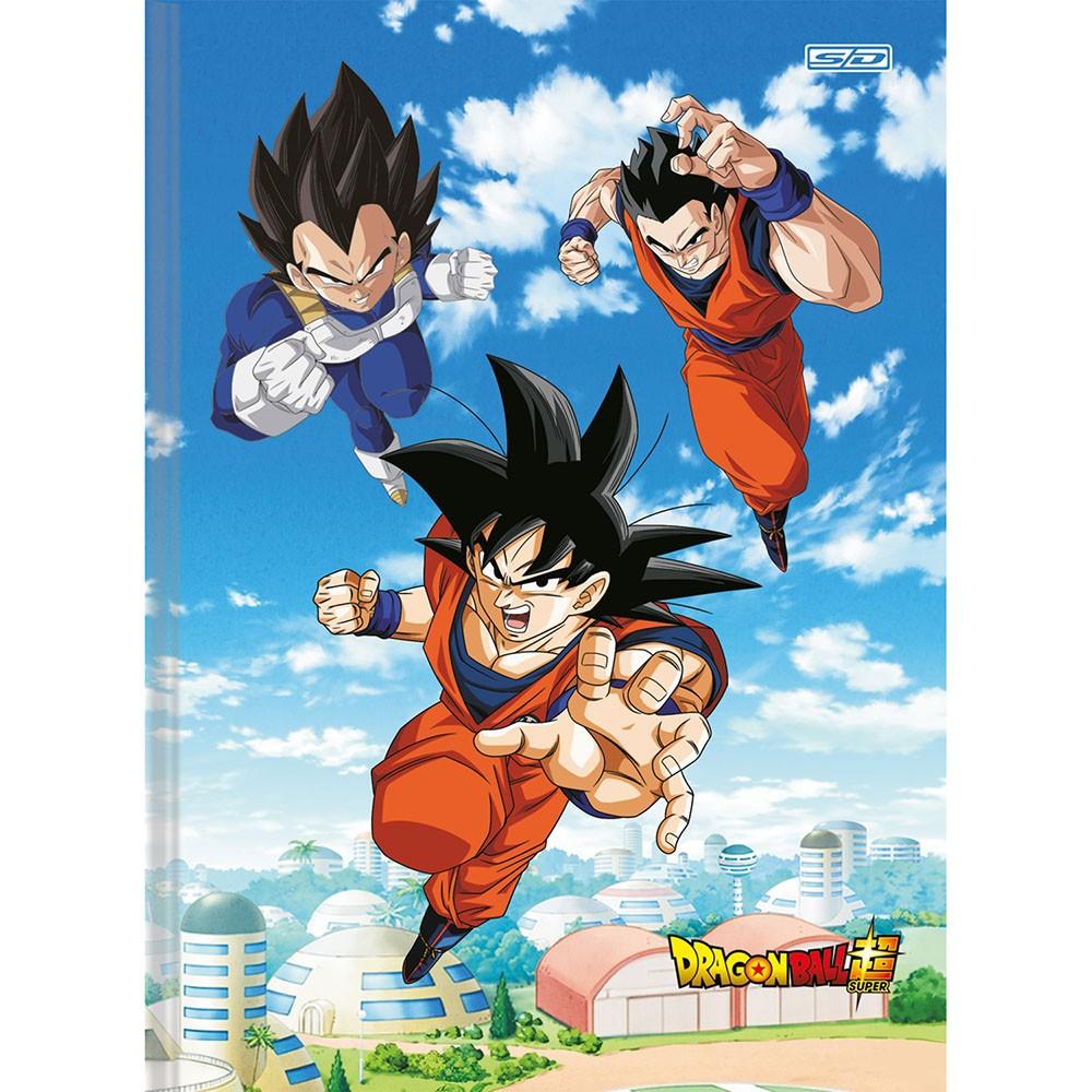 Caderno Brochurão CD 80 Folhas Dragon Ball 3 São Domingos