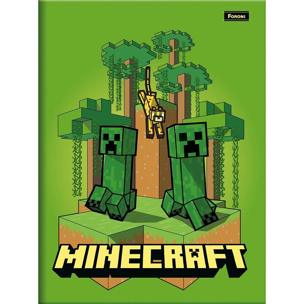 Caderno Brochurão CD 96 Folhas Minecraft 1 Foroni