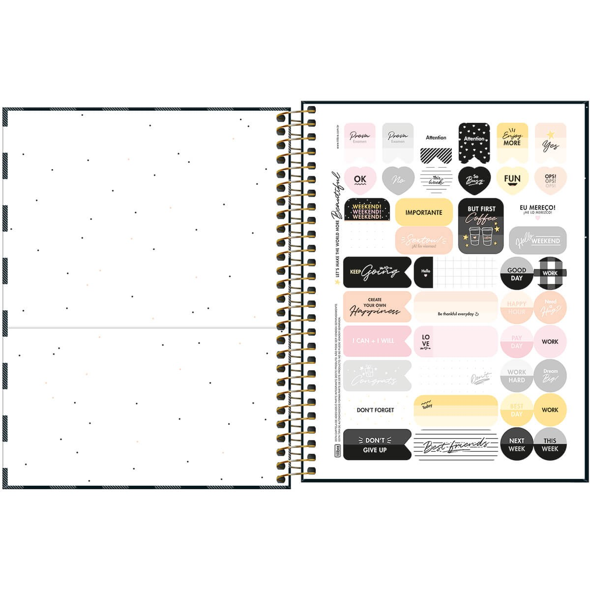 Caderno Colegial 1x1 CD 80 Folhas West Village 3 Tilibra