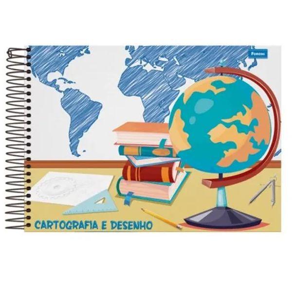 Caderno de Cartografia Capa Dura 48 Folhas Foroni  - INK House