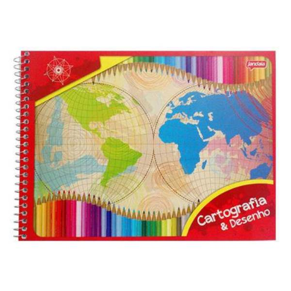 Caderno de Cartografia CF 48 Folhas Jandaia