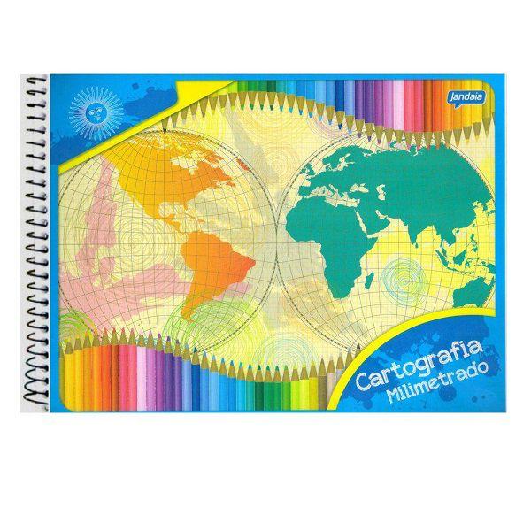 Caderno de Cartografia CF Milimetrado 48 Folhas Jandaia  - INK House