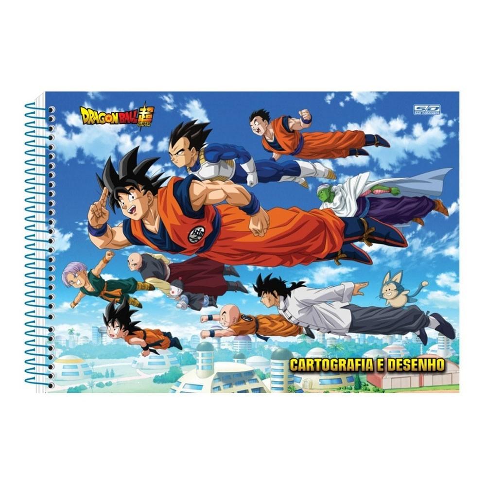 Caderno de Cartografia e Desenho CD 60 Folhas Dragon Ball 3 São Domingos