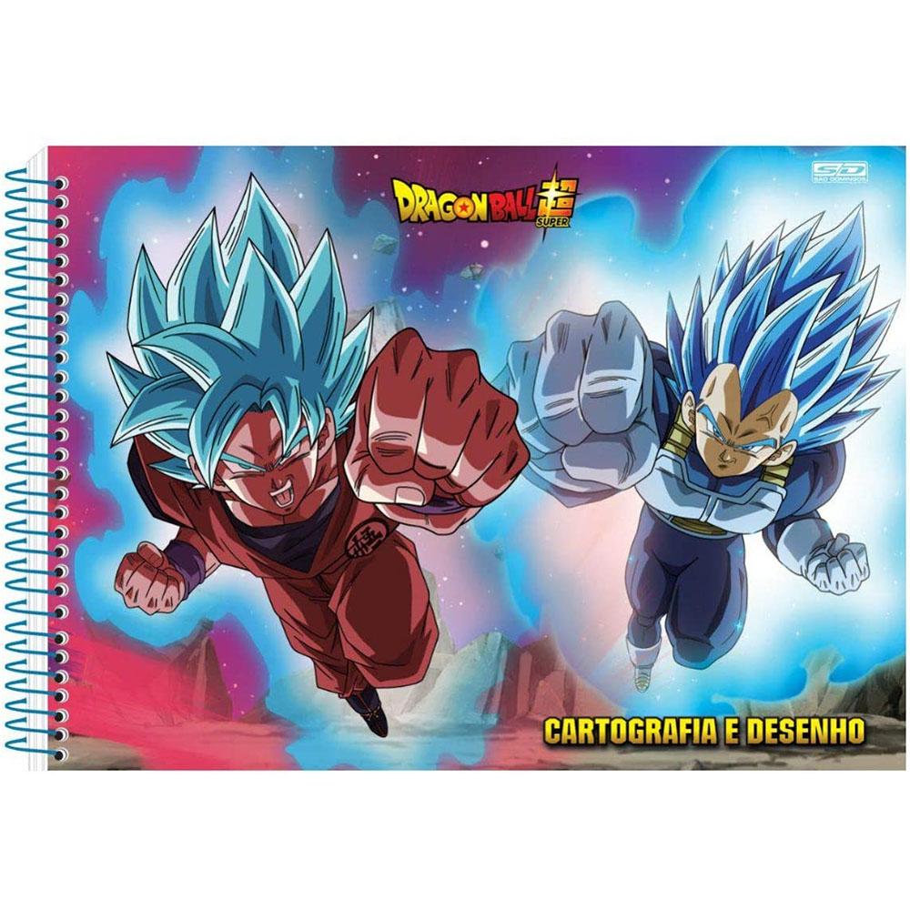Caderno de Cartografia e Desenho CD 60 Folhas Dragon Ball 4 São Domingos