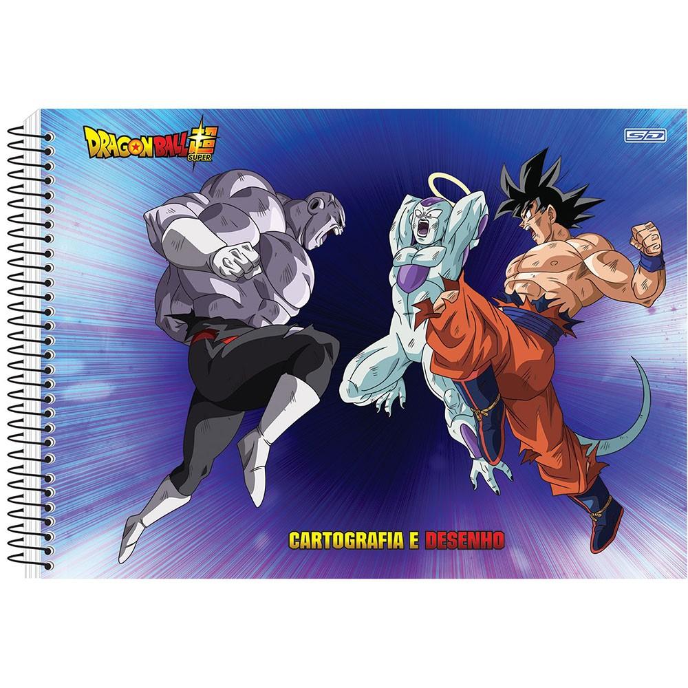 Caderno de Cartografia e Desenho CD 60 Folhas Dragon Ball 6 São Domingos  - INK House