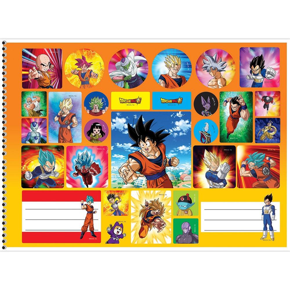 Caderno de Cartografia e Desenho CD 60 Folhas Dragon Ball 7 São Domingos