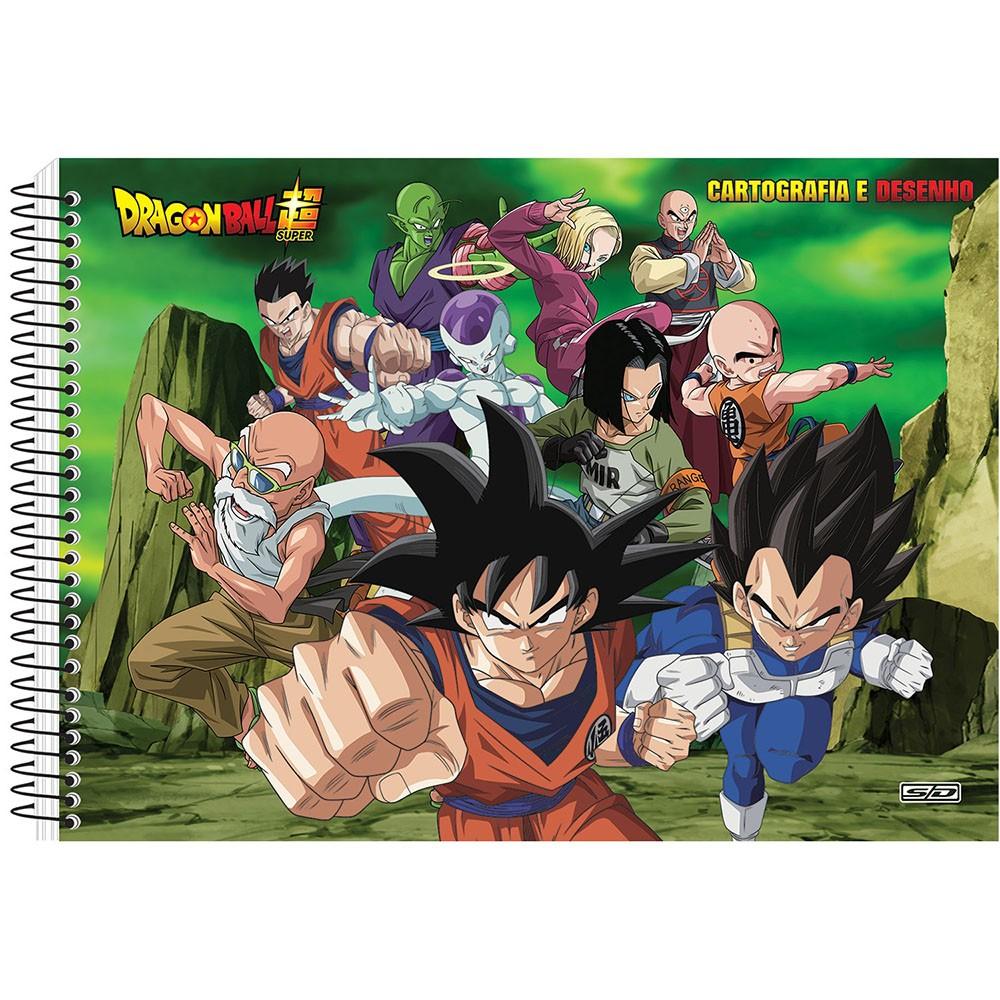 Caderno de Cartografia e Desenho CD 60 Folhas Dragon Ball 8 São Domingos