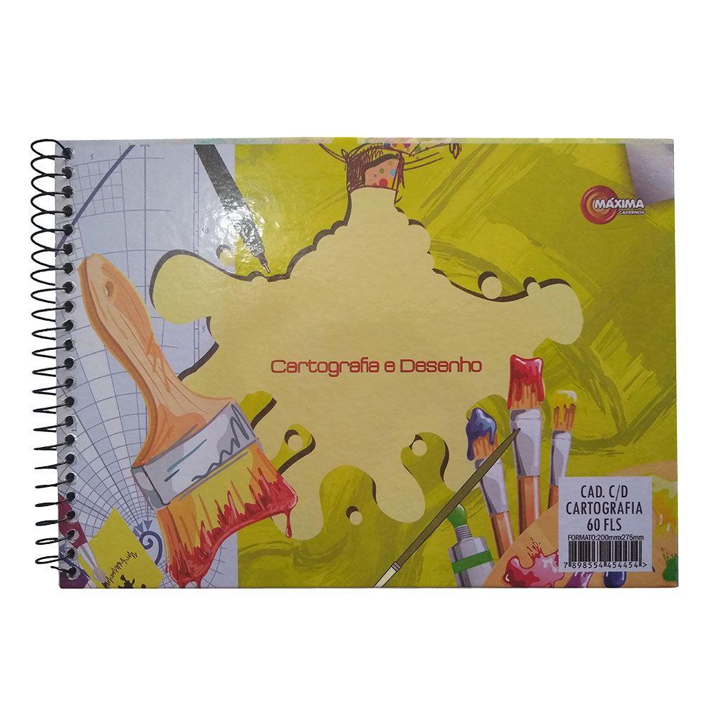 Caderno de Cartografia e Desenho CD 60 Folhas Máxima
