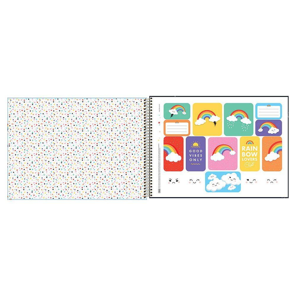 Caderno de Cartografia e Desenho CD 80 Folhas Rainbow 1 Tilibra  - INK House