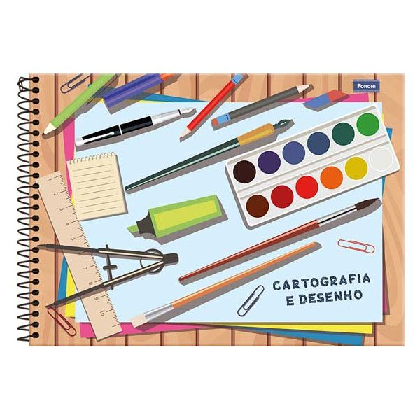 Caderno de Cartografia e Desenho CD 96 Folhas Foroni