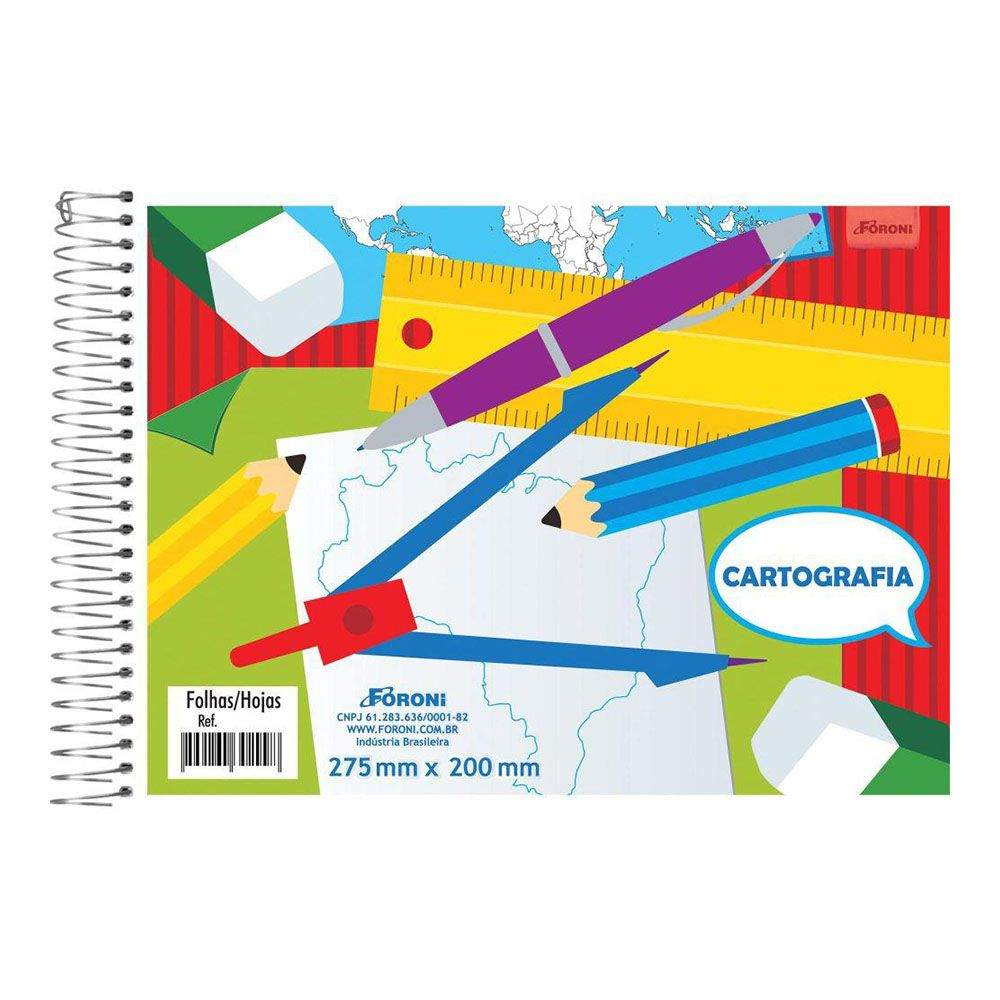 Caderno de Cartografia e Desenho CF 48 Folhas Foroni