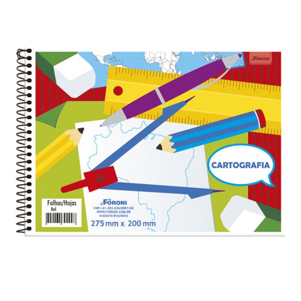 Caderno de Cartografia e Desenho CF 96 Folhas Foroni  - INK House