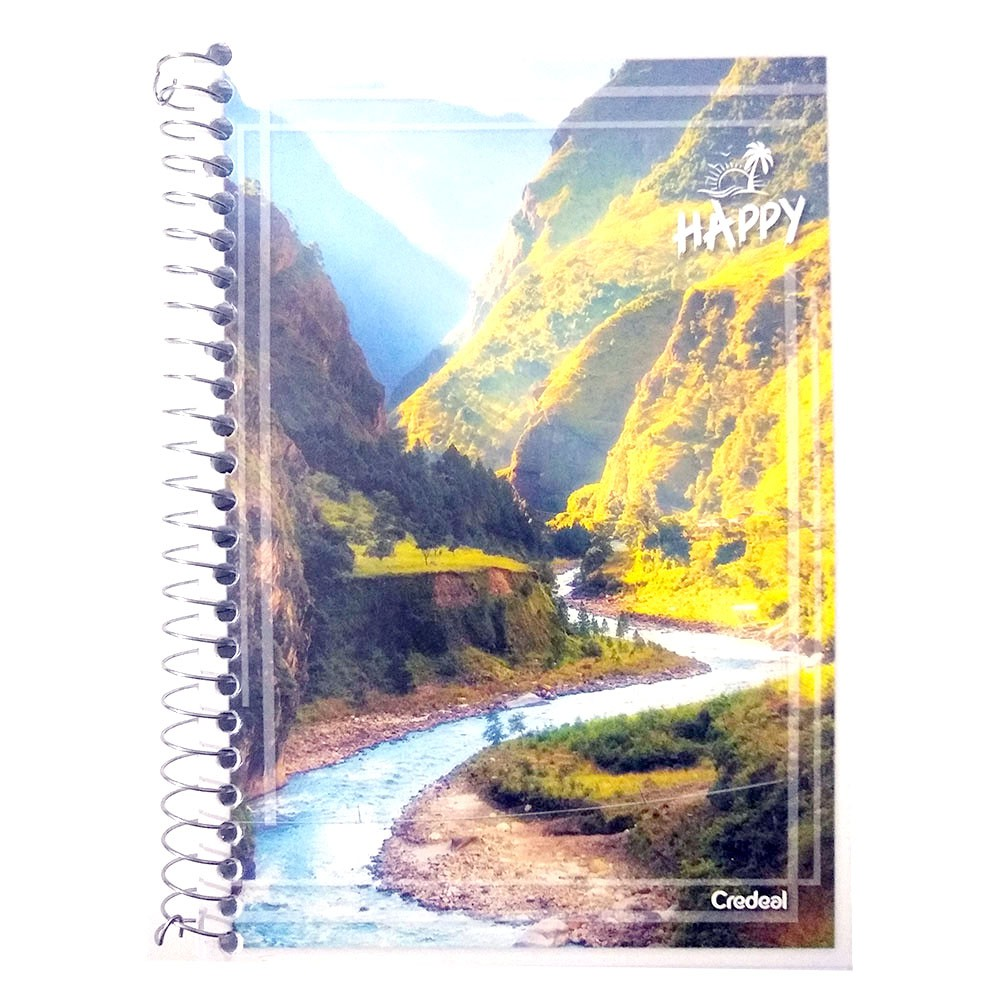 Caderno Espiral 1/4 CF 96 Folhas Happy 3 Credeal  - INK House