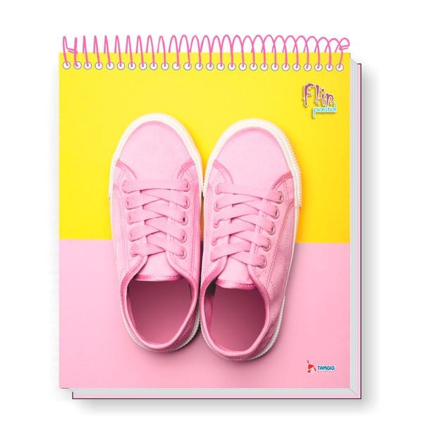 Caderno Universitário 10x1 CD 160 Folhas Flip Pastel 4 Tamoio