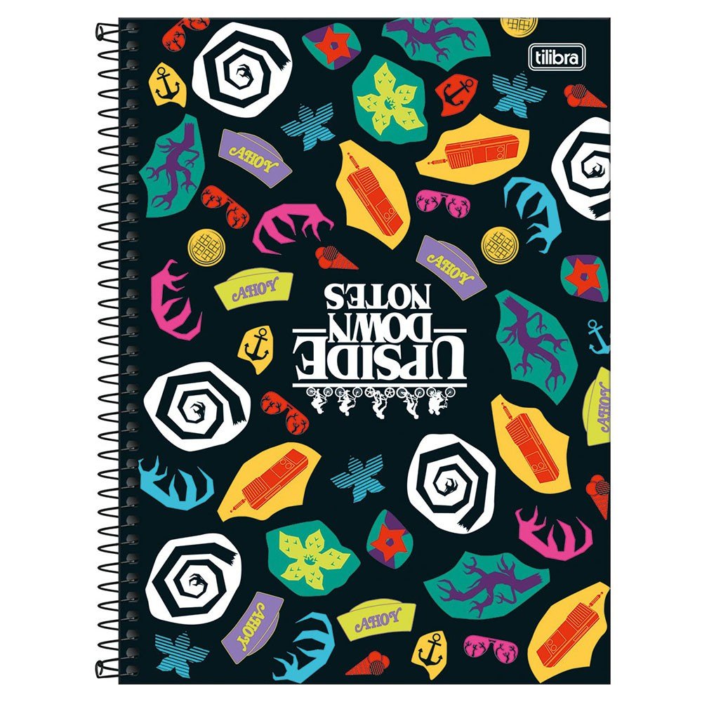 Caderno Universitário 10x1 CD 160 Folhas Stranger Things 1 Tilibra  - INK House