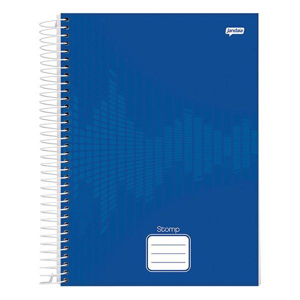 Caderno Universitário 1x1 Capa Dura 96 Folhas Azul Stomp Jandaia  - INK House