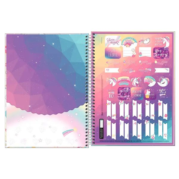 Caderno Universitário 1x1 CD 80 Folhas Blink 1 Tilibra