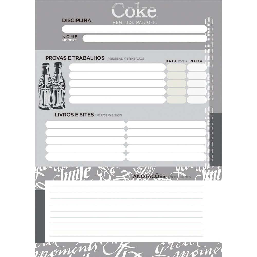 Caderno Universitário 1x1 CD 80 Folhas Coca-Cola 1 Jandaia