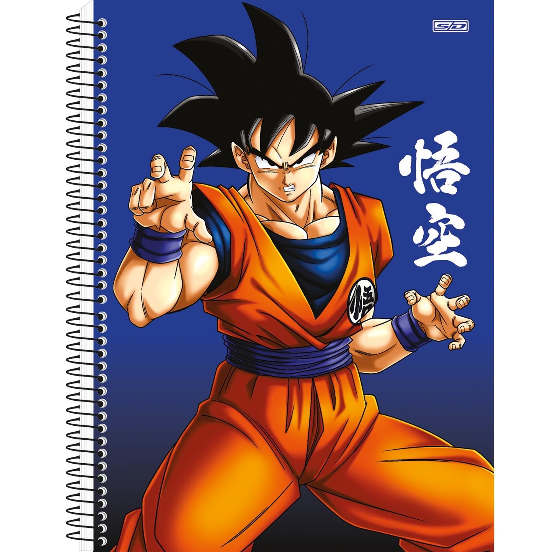 Caderno Universitário 1x1 CD 80 Folhas Dragon Ball 1 São Domingos