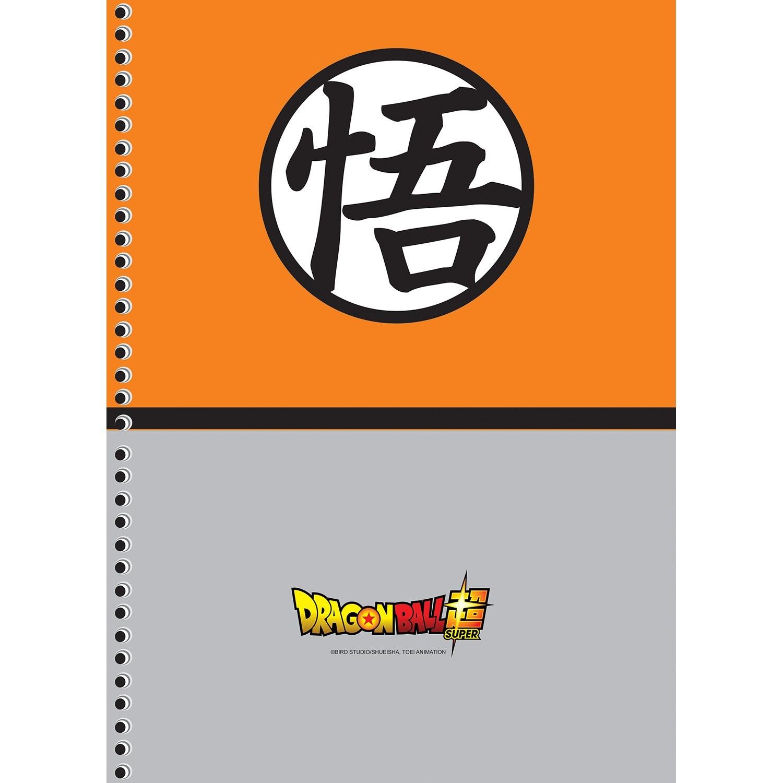 Caderno Universitário 1x1 CD 80 Folhas Dragon Ball 3 São Domingos