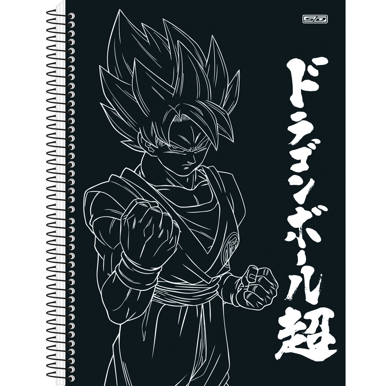 Caderno Universitário 1x1 CD 80 Folhas Dragon Ball 4 São Domingos