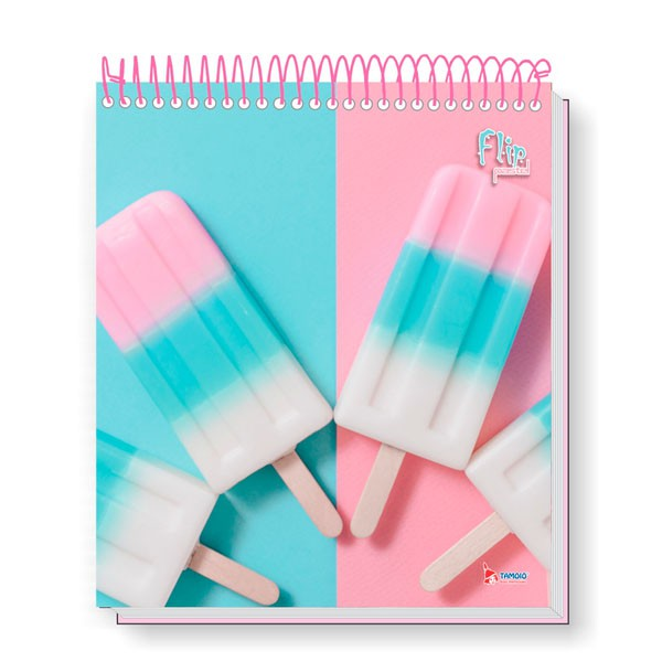 Caderno Universitário 1x1 CD 80 Folhas Flip Pastel 1 Tamoio  - INK House