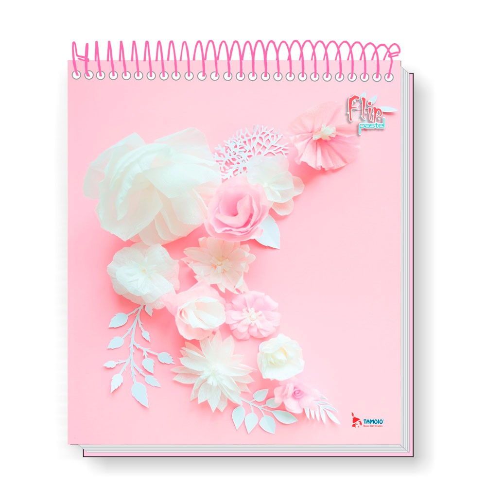 Caderno Universitário 1x1 CD 80 Folhas Flip Pastel 3 Tamoio  - INK House