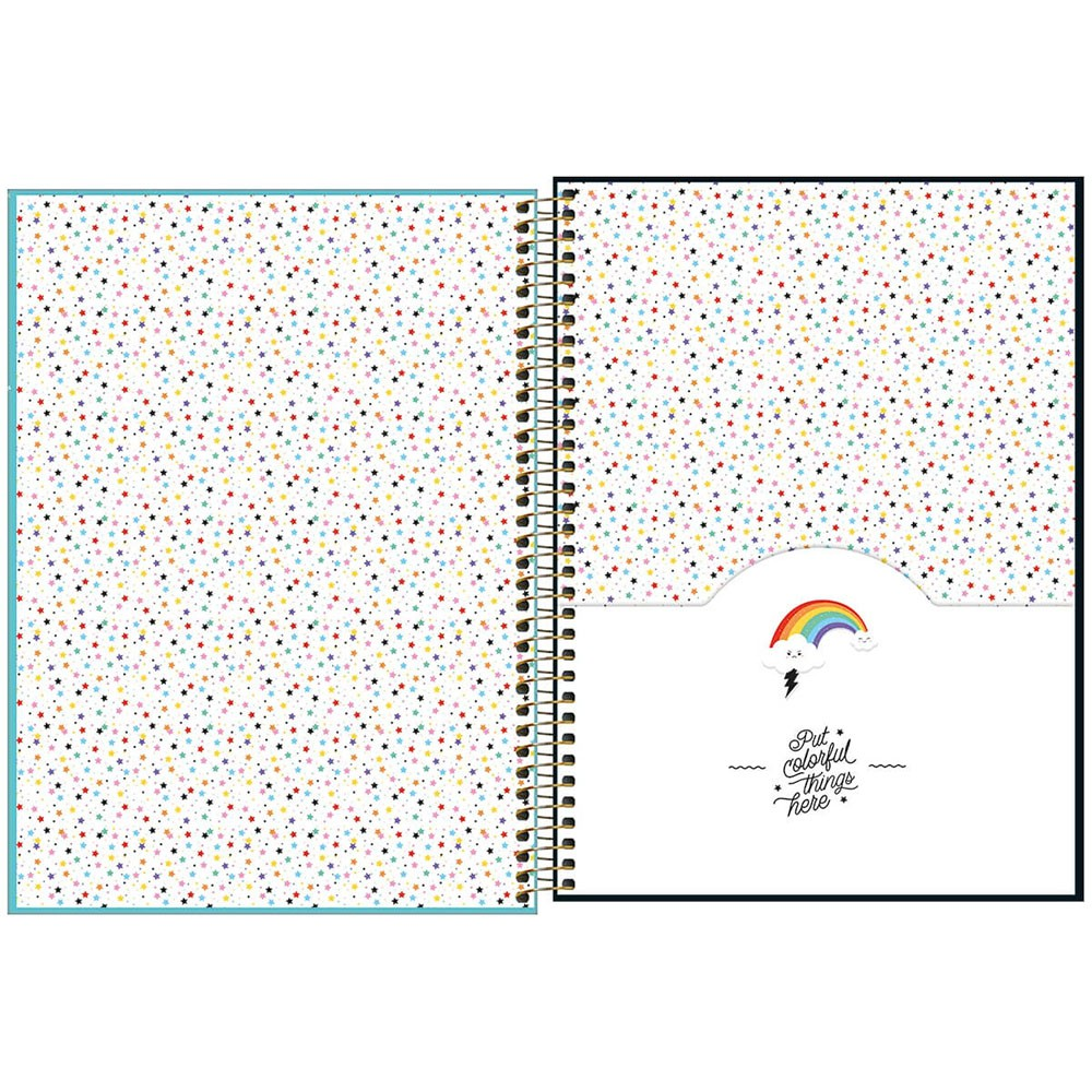Caderno Universitário 1x1 CD 80 Folhas Rainbow 2 Tilibra  - INK House
