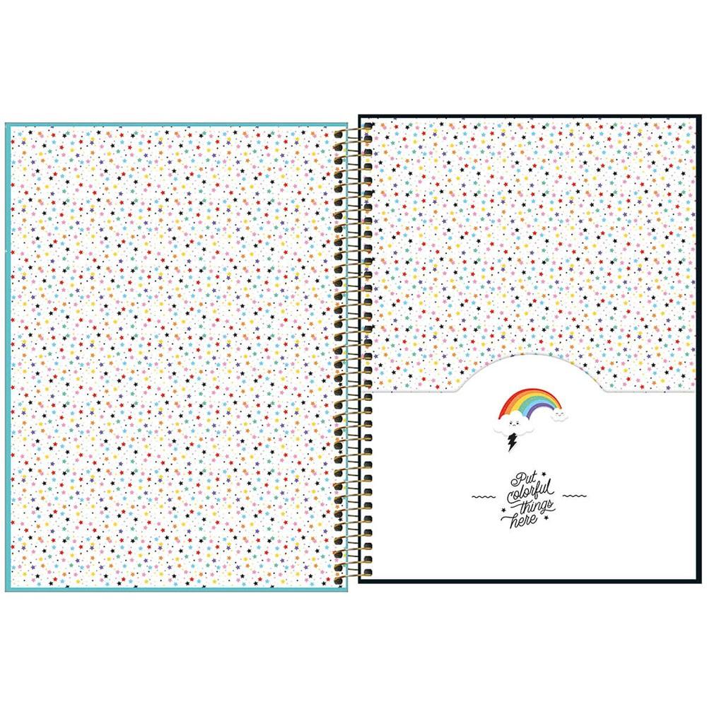Caderno Universitário 1x1 CD 80 Folhas Rainbow 4 Tilibra  - INK House