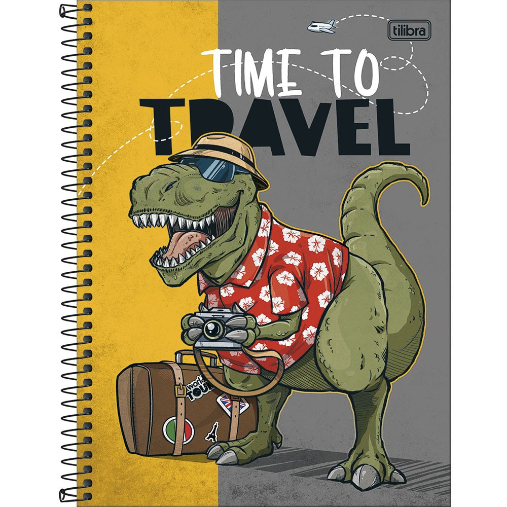 Caderno Universitário 1x1 CD 80 Folhas Raptor 1 Tilibra