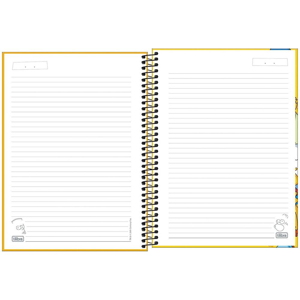 Caderno Universitário 1x1 CD 80 Folhas Simpsons 2 Tilibra