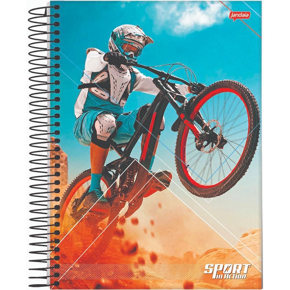 Caderno Universitário 1x1 CD 80 Folhas Sport 1 Jandaia  - INK House